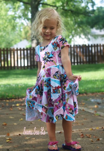 Super Girl, Wonder Woman and Bat Girl Dress Sewing Pattern