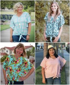 The Front Flutter Sleeve Sewing Pattern Release and Sale by Seamingly Smitten