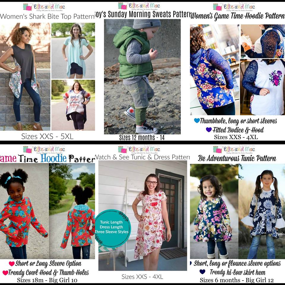 Wacky Wednesday $1 Sewing Patterns by Ellie and Mac August 1