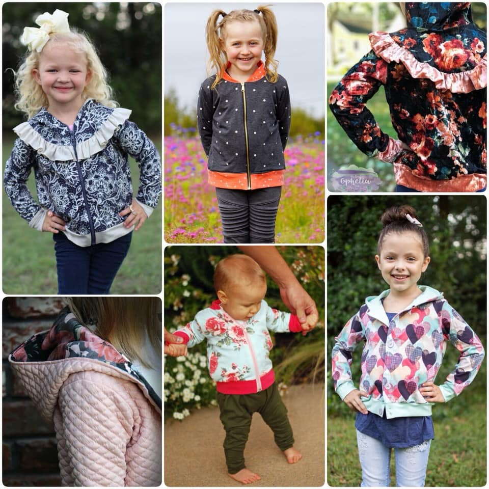 Girls Dewdrop Sweatshirt Sewing Pattern Release by Honeydew Kisses Release and Sale