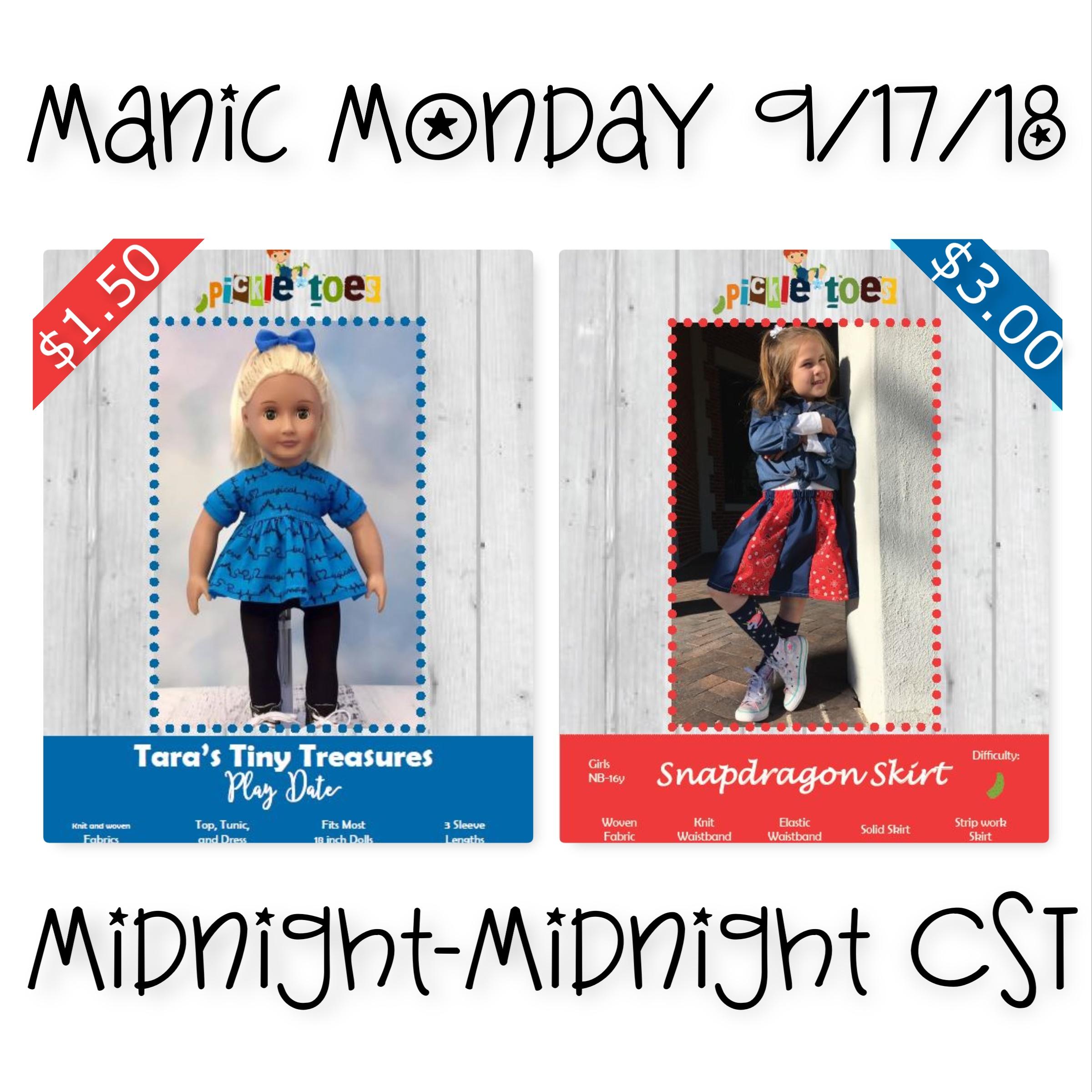 Manic Monday Sewing Pattern Deals 9_17