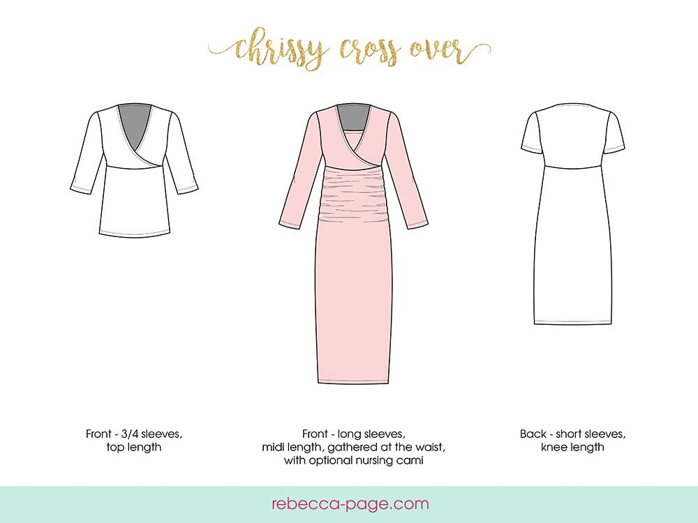 Women's Chrissy Crossover Dress Release and Sale by Rebecca Page