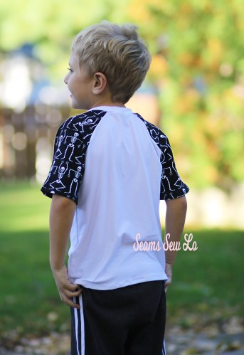 Back of Boys Ragtag Raglan Sewing Pattern