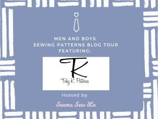 Toby K. Patterns Men and Boys Sewing Pattern Blog tour