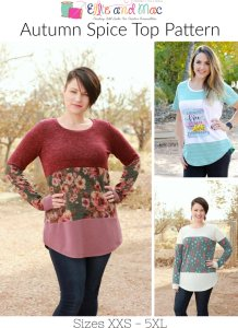 Autumn Spice Sewing Pattern Release and Sale by Ellie and Mac