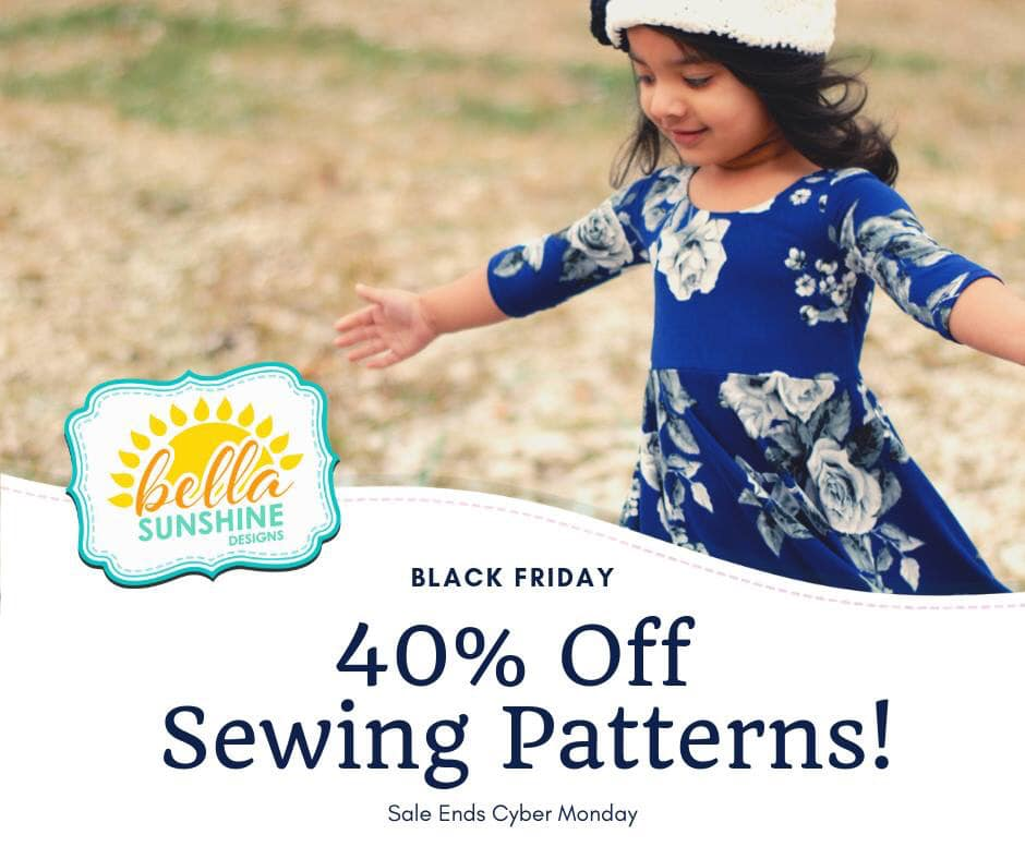 Bella Sunshine Sewing Patterns Black Friday Sale