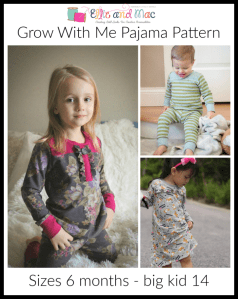 Free Grow With Me Pajama Sewing Pattern