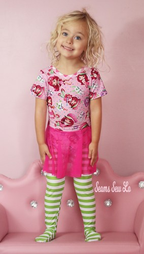 Strawberry Shortcake Inspired Ballet Leotard and Tights Fabric and Sewing Pattern
