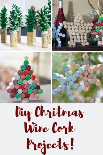 DIY Wine Cork Christmas Projects