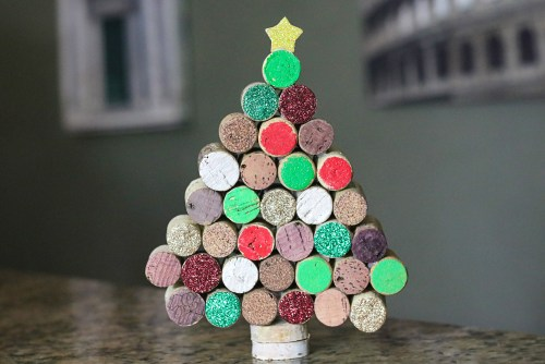 Wine Cork Christmas Tree Tutorial
