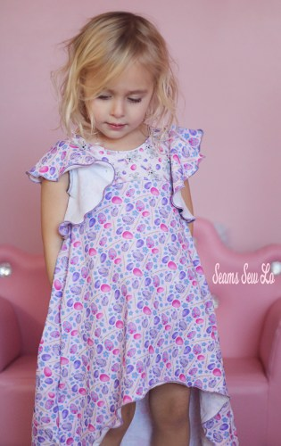 Little Girls Pink and Purple Easter Dress