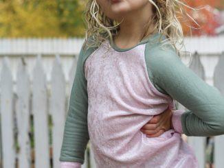 Girls Raglan Top Sewing Pattern by Ellie and Mac