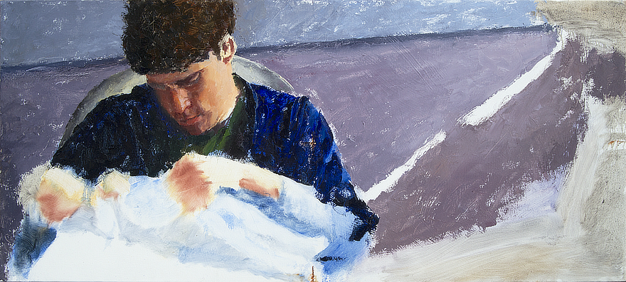 Derrek and Josephine Progress 03 Portrait Feature Painting Seamus Berkeley
