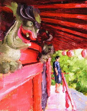 Akami Shrine Painting Seamus Berkeley