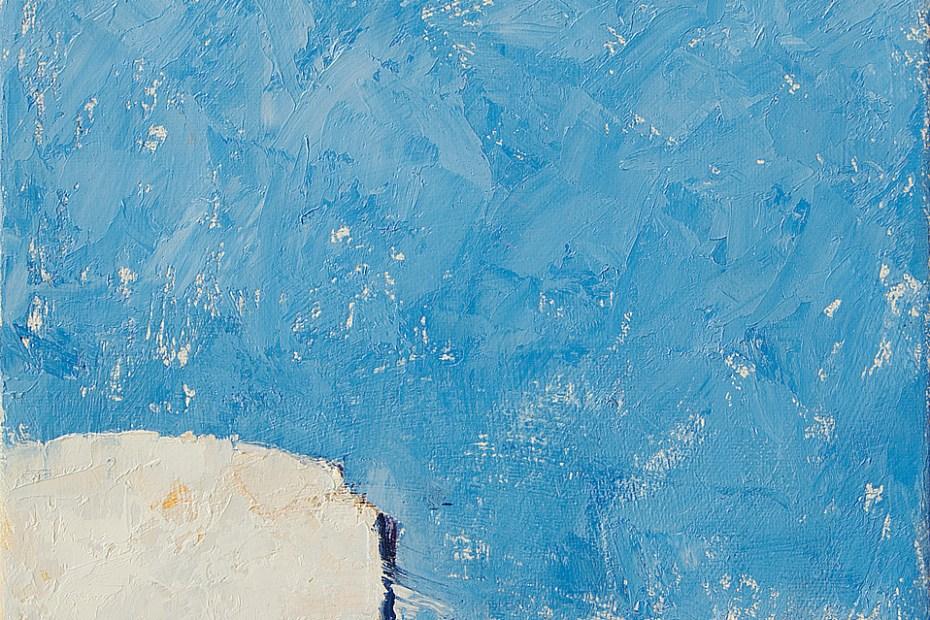 Blue Smile Painting Seamus Berkeley