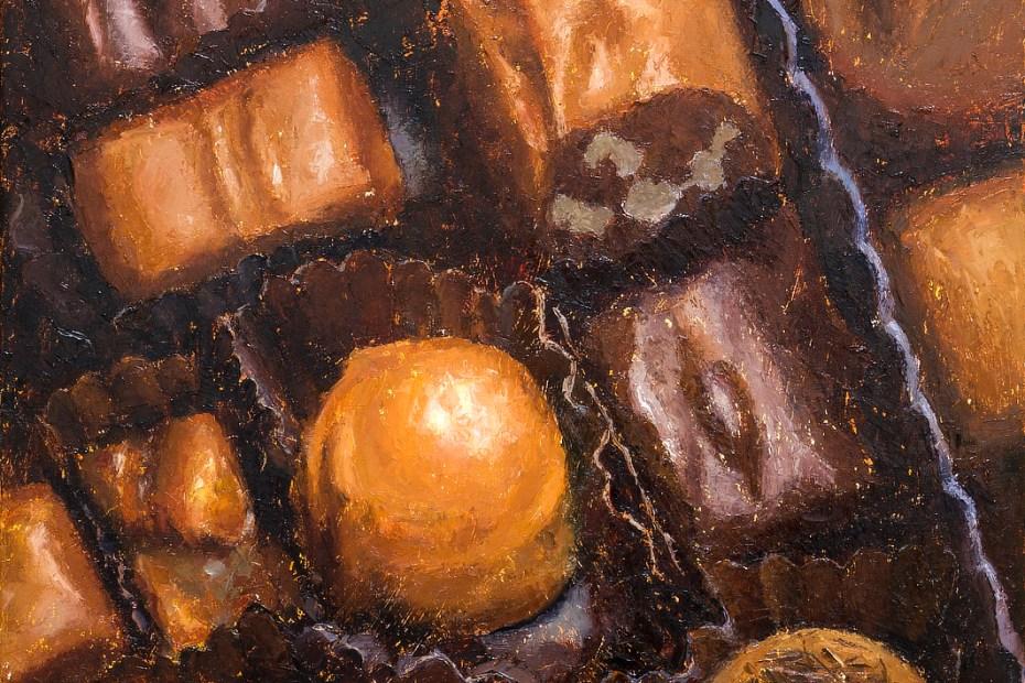 Box of Chocolates Painting Seamus Berkeley