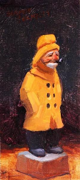 Funky Fisherman Painting Seamus Berkeley