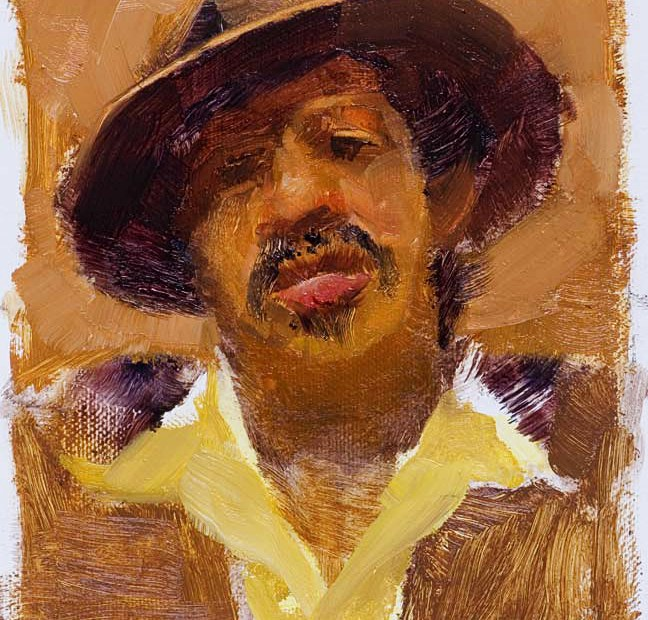 Ian Moore Study Portrait Painting Seamus Berkeley