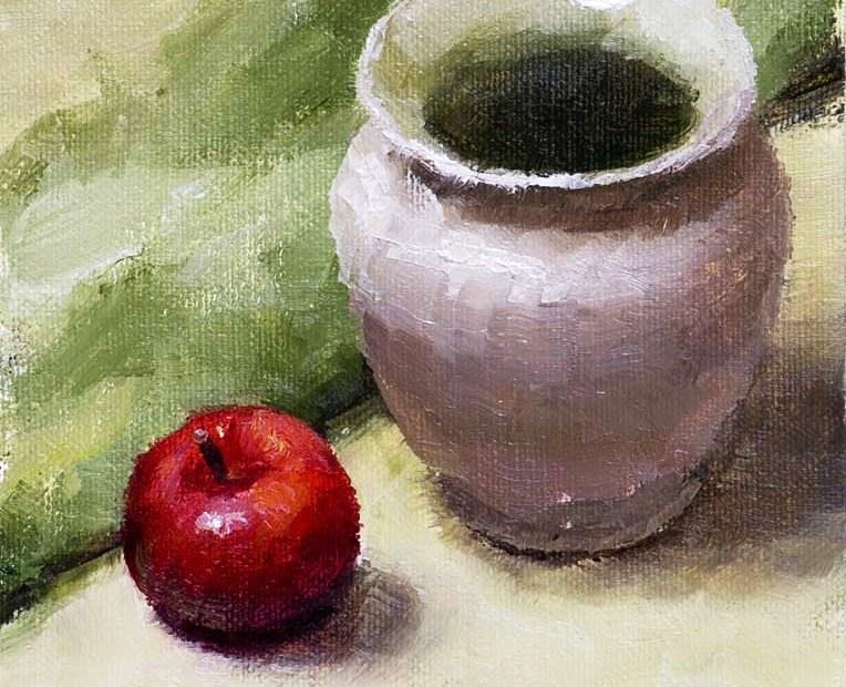 Red Vase Painting Seamus Berkeley