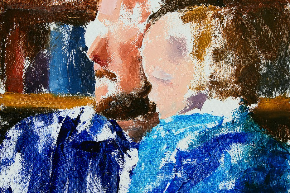 Ryan and Joel Green Progress 01 Portrait Painting Seamus Berkeley