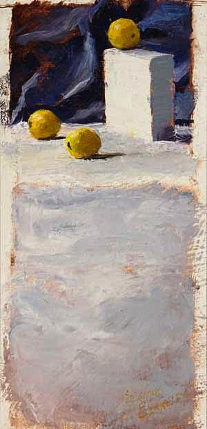Three Lemons Painting Seamus Berkeley