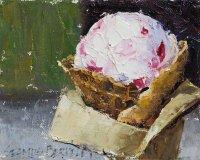 Raspberry Goat Cheese Ice Cream