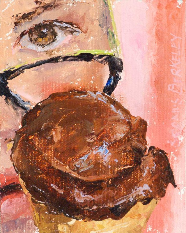 Eyeing Chocolate Sorbet