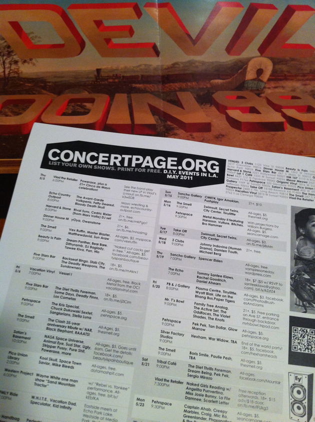 Download CONCERTPAGE with cover art by Wayne White