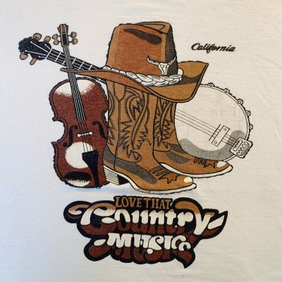 """Puffy Paint """"COUNTRY MUSIC"""" T shirt"""