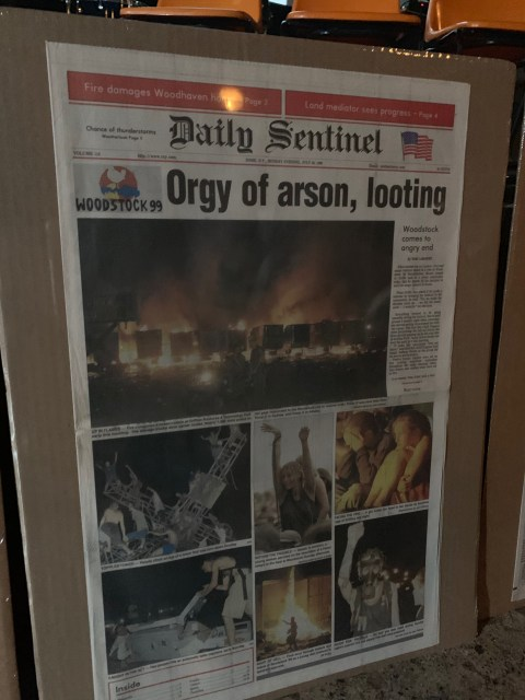 Orgy of arson, looting