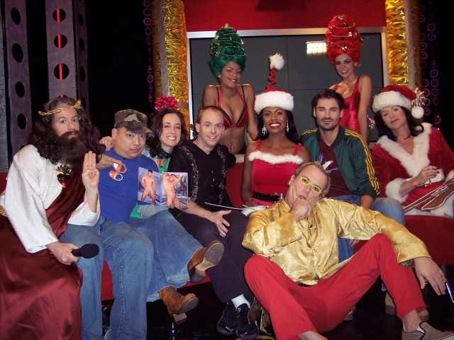 Jack E. Jett, Jackie Enx, Rob Williams as Jesus, the Troubadour Theater Company, Luca DiCorso, the Barbarellas, Omarosa