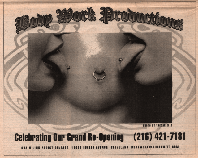 David Anthony body piercing U.S. Rocker