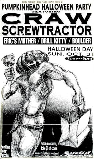 Craw Boulder Euclid Tavern 1993 Derek Hess poster