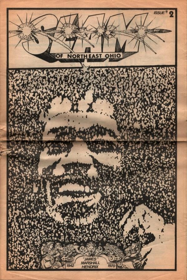 SLAM Magazine U.S. Rocker Ohio 1989 Jimi Hendrix