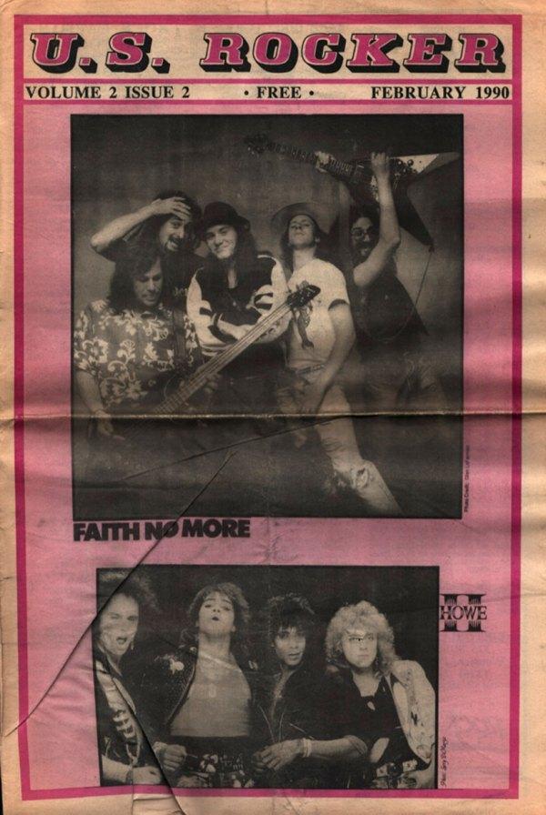 U.S. Rocker magazine February 1990 Faith No More Cleveland