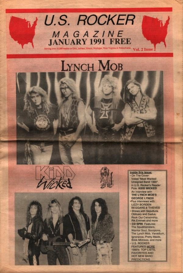 U.S. Rocker January 1991 Lynch Mob Kidd Wicked