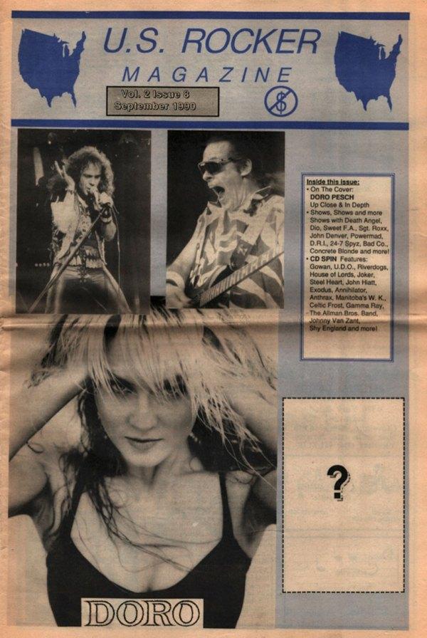 U.S. Rocker September 1990 Cleveland Dio Van Halen Doro