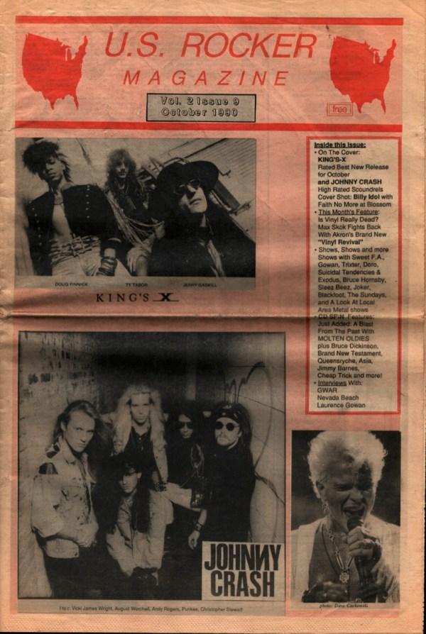 U.S. Rocker October 1990 King's X Johnny Crash Billy Idol
