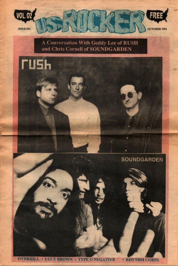 U.S. Rocker, October 1991 Cleveland Rush Soundgarden Type O Negative