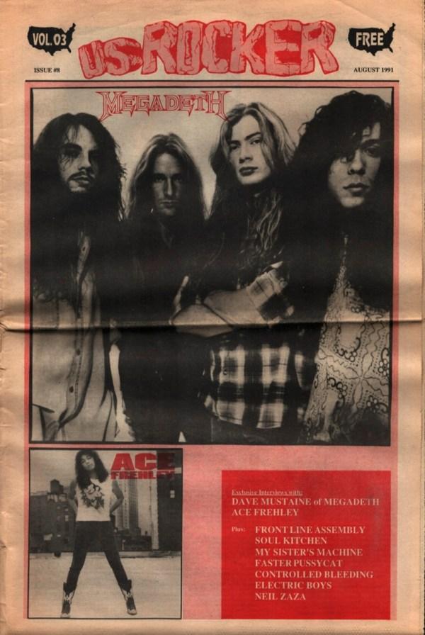 U.S. Rocker, August 1992 Cleveland Megadeth Ace Frehley