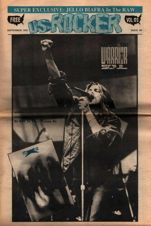 U.S. Rocker, September 1992 Cleveland Warrior Soul Deicide