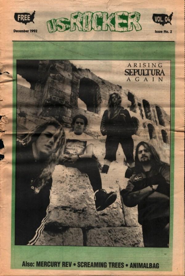 U.S. Rocker, December 1992 Cleveland Sepultura Mercury Rev Screaming Trees Animal Bag