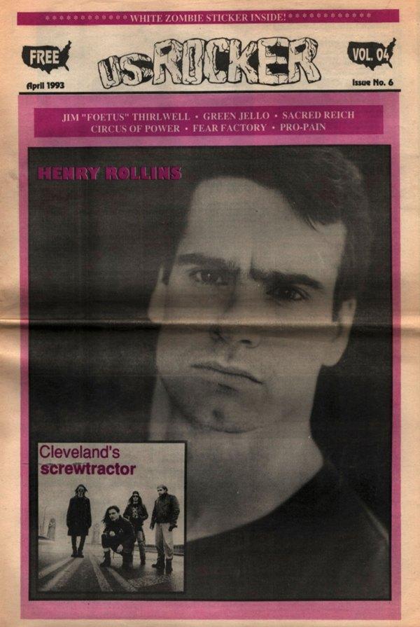 U.S. Rocker, April 1993 Cleveland Henry Rollins Screwtractor Green Jello