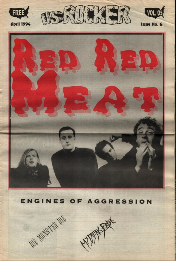 U.S. Rocker, April 1994 Cleveland Red REd Meat Engines Of Aggression