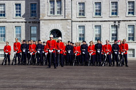 Following the badging, march past and consolidation of ranks, 2 Squadron stands together as one.