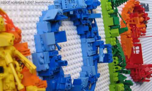 Sean Kenney   Art with LEGO bricks   Google logo LEGO Google logo