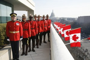 Mounties on Roof of Canadian Embassy in Washington, D.C. Source: Connect to Canada, Flickr