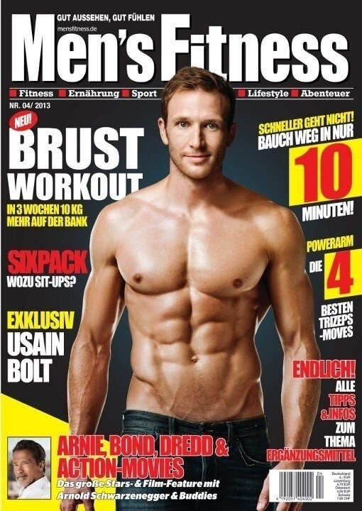 Sean Lerwill's Men's Fitness Germany cover (2013)