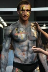 Sean Lerwill bodypaint modelling
