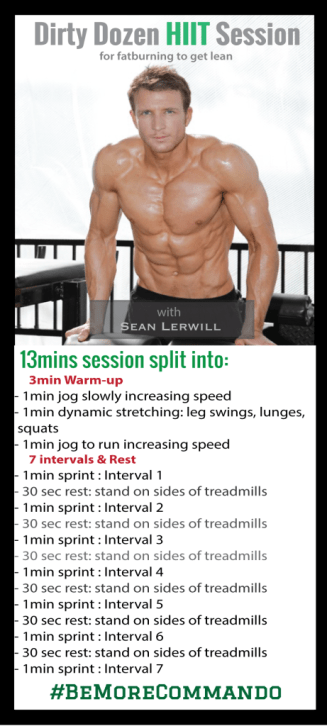 Sean Lerwill's dirty dozen HIIT session